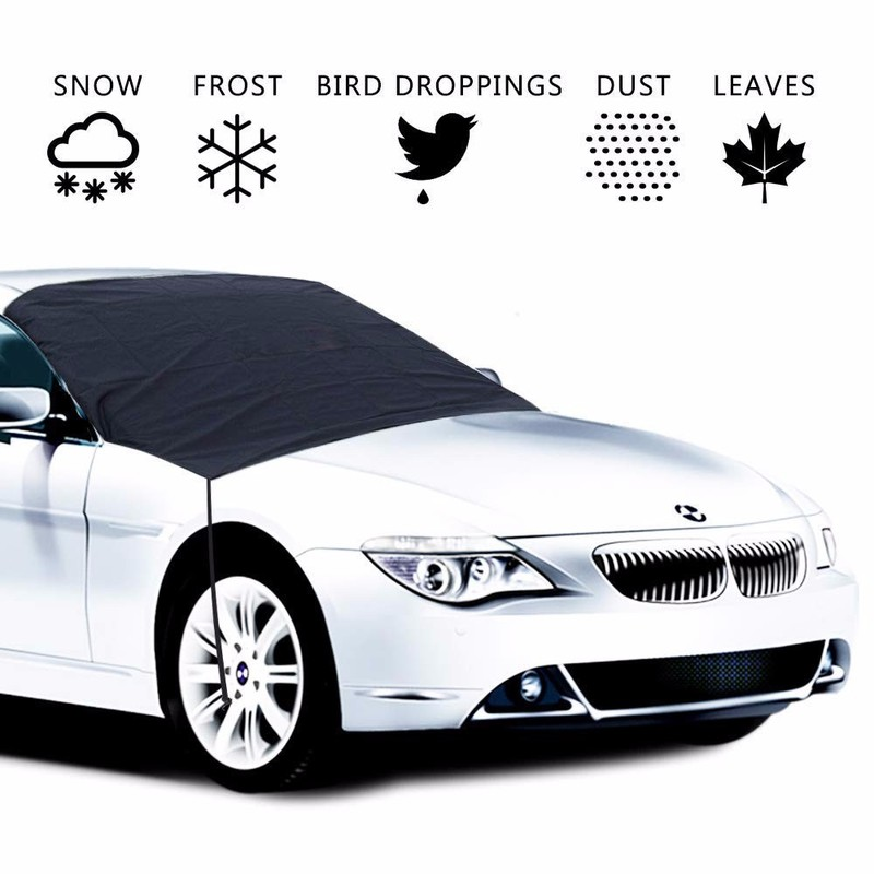 215X125CM Magnetic Windshield Cover Summer Sun Anti-UV Shade Protector Frost Anti-dirty Dust-proof Car Cover Auto Car Accessory