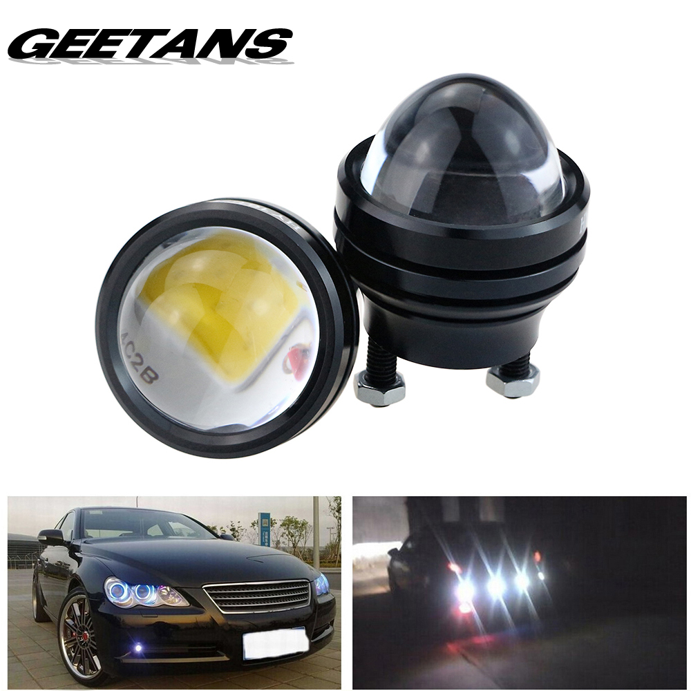 GEETANS 1 pair 15W 12V Super Bright LED Light Eagle Eye Daytime Running Light DRL Lights Waterproof Parking DC12V for Audi DJ 2pcs led car fog lamp super bright 1000lm waterproof drl eagle eye light external lights daytime running lights