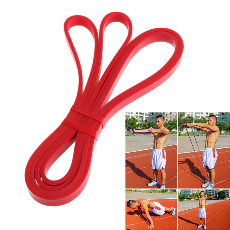 Resistance Band Loop Power Gym Fitness Training Exercise Yoga Workout Pilates