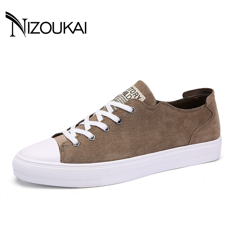 New 2018 Genuine Leather Men's Casual Shoes Spring & Autumn Trainers Male Shoes Adult Men Sneakers Men Flats Zapatillas spring autumn fashion men high top shoes genuine leather breathable casual shoes male loafers youth sneakers flats 3a