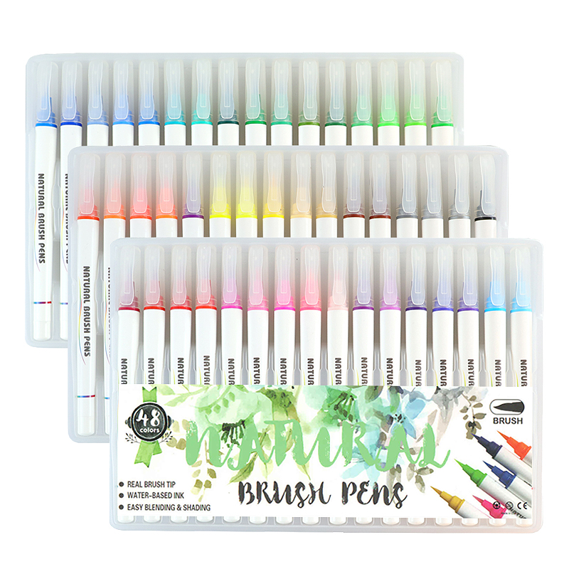 48 Colores Arte Rotulador Juego De Bolígrafos Pintura