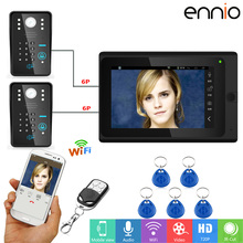 ENNIO SY703MJS21 7 inch Wifi RFID Password Video Door Phone video intercom Wireless doorphone Night Vision Intercom kit