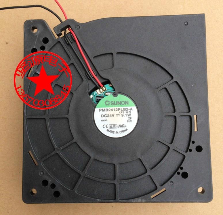 SUNON    PMB2412PLB2-A (2).GN DC 24V 9.1W  Server Square  Fan free shipping for sunon eg50040v1 c06c s9a dc 5v 2 00w 8 wire 8 pin server laptop fan
