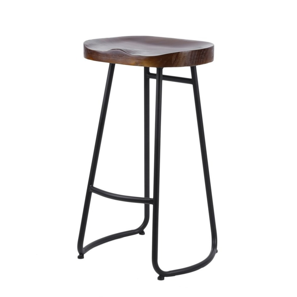 Vintage Bar Stool Rural High Barstool Durable Home Dining Chair For Home Kitchen Restaurant Coffee Shop Dinning Pub Furniture