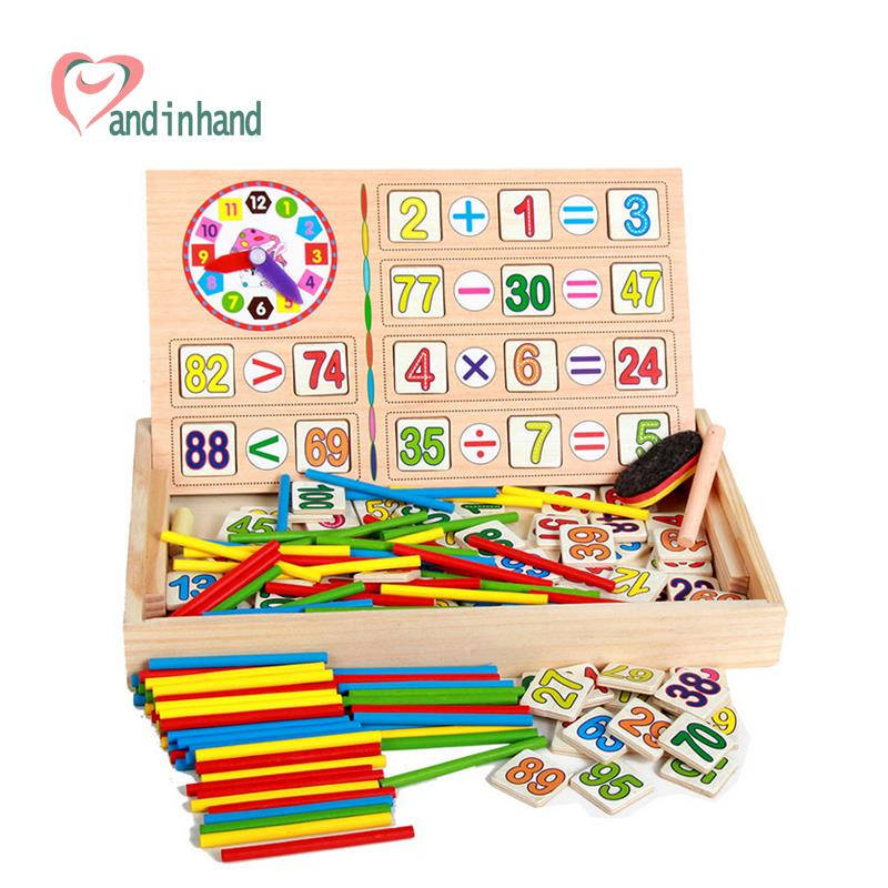 Math Toys For Kids : Toys for children wooden counting math game mathematics