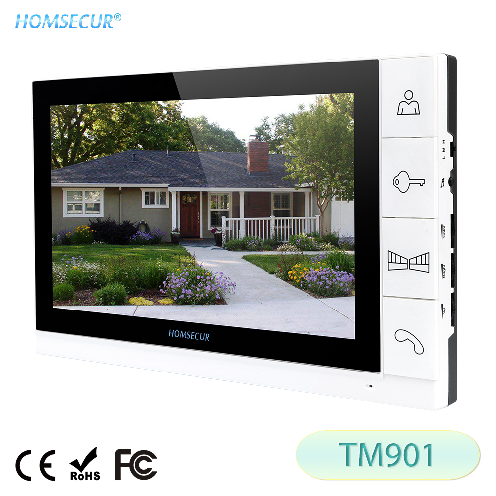 HOMSECUR Door-Phone Phone-Intercom-System for HDW Wired Video-Door TM901 9- title=