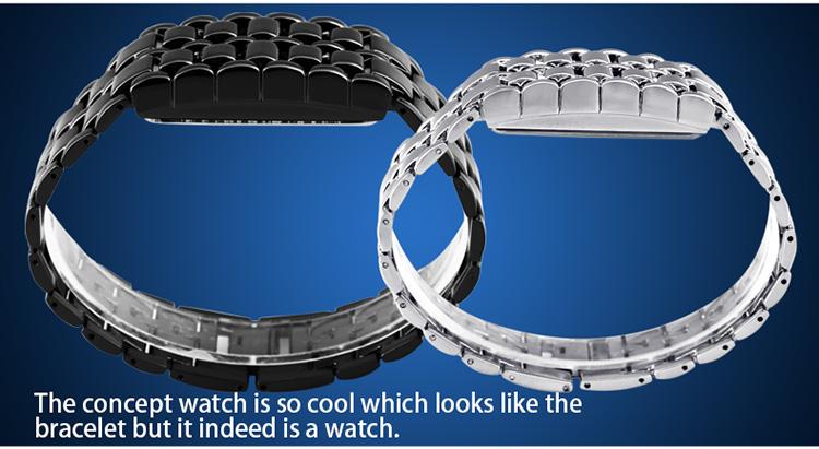 Aidis youth sports watches waterproof electronic second generation binary LED digital men's watch alloy wrist strap watch 23