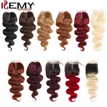 4x4 Lace Closure 99J/Burgundy Red Color Brazilian Body Wave Human Hair Free/Middle Part Swiss Lace Closure Non- Remy Hair Closure - DISCOUNT ITEM  20% OFF All Category