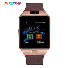 Interpad Fashion Android Smart Watch Bluetooth Wristwatch Sport Pedometer Phone Clock Support SIM TF Card Camera Smartwatch