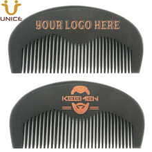 100pcs/lot Your LOGO Customized OEM Black Wood Combs  Imprint Wooden Hair Beard Comb Barber Shop Promotion Gifts
