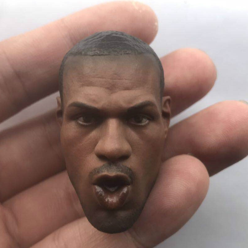 Lebron James Head Sculpt 1/6 Scale Black Basketball Star Head for 12inch Phicen JIAOUL Doll Toy Open mouth versionLebron James Head Sculpt 1/6 Scale Black Basketball Star Head for 12inch Phicen JIAOUL Doll Toy Open mouth version
