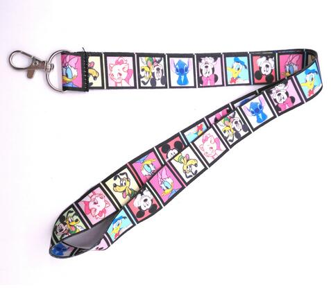 Retail 1 Pcs Cartoon Mickey Minnie Stitch  Straps Lanyard  ID Badge Holders Mobile Neck Keychains For Party Gift R22