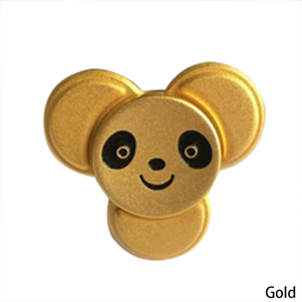 4 Colours Panda Rotating Fidget Spinner EDC ADHD Stress Relief Toy For Kids With Autism
