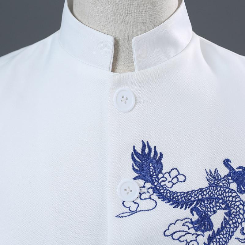 blue Hommes Outfit Embroidery white Broderie Chœur Équipe Robe De Chanteur Mâle Pantalon Embroidery Mariage Costume Hôte Stade Chinois Red Embroidery Ensembles veste Style Marié Bar 5q1Ow