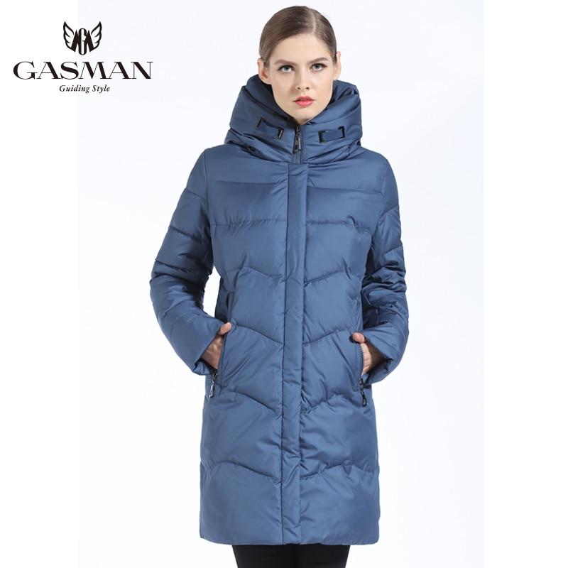 GASMAN 2019 Femmes Veste D'hiver Vers Le Bas Long Femelle manteau d'hiver épais Pour Femmes À Capuchon Vers Le Bas Parka Chaud Vêtements grande taille 7XL 6XL - 2