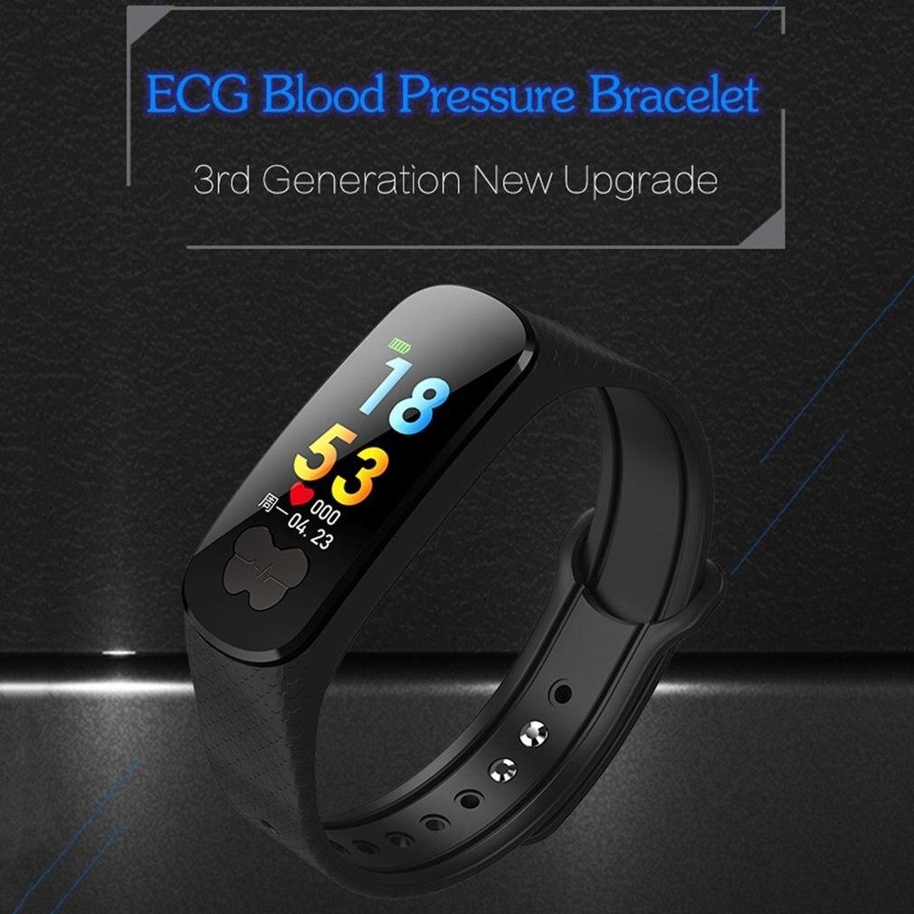 B37 montre intelligente couleur écran étanche ECG + PPG moniteur de fréquence cardiaque SportTracker Bluetooth Bracelet Bracelet pour IOS Android hommes - 2