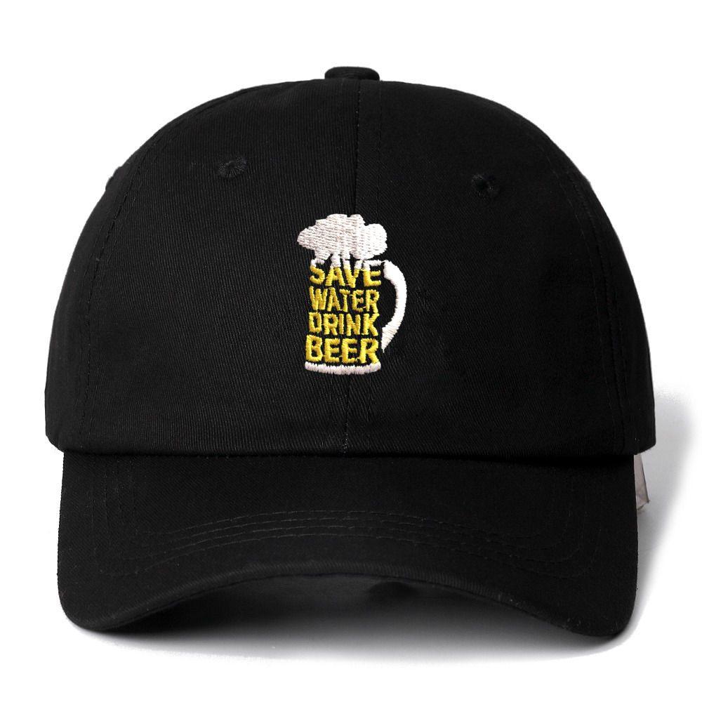 SAVE WATER DRINK BEER Snapback   Cap   Cotton   Baseball     Cap   For Men Women Adjustable Hip Hop Dad Hat Bone Garros Dropshipping
