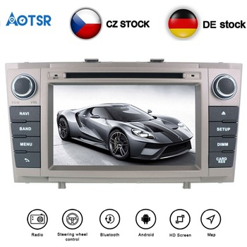 Aotsr 7'Android 8.0/8.1 Car DVD Player For Toyota Avensis 2009-2015 T27 Car GPS Navigation Stereo multimedia auto headunit 2 din image