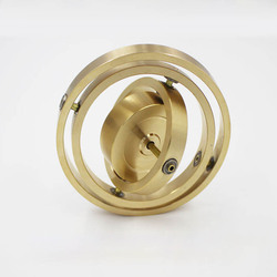 Di rame puro meccanica di precisione triassiale giroscopio metallo ragazzo momento angolare giroscopio balance giocattolo anti gravità