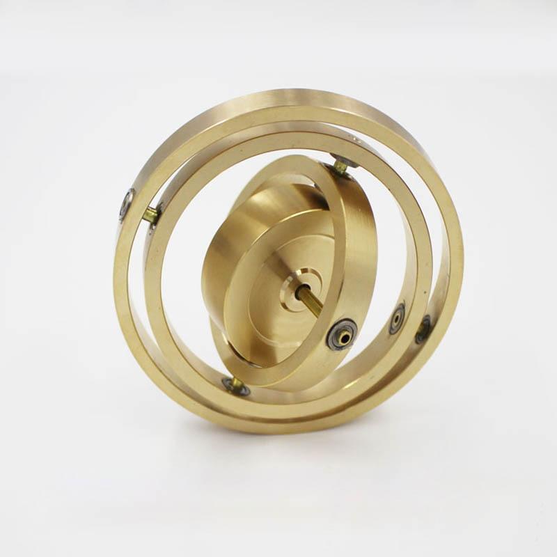 Pure Copper Precision Mechanical Triaxial Gyro Metal Boy Angular Momentum Gyroscope Balance Toy Anti Gravity