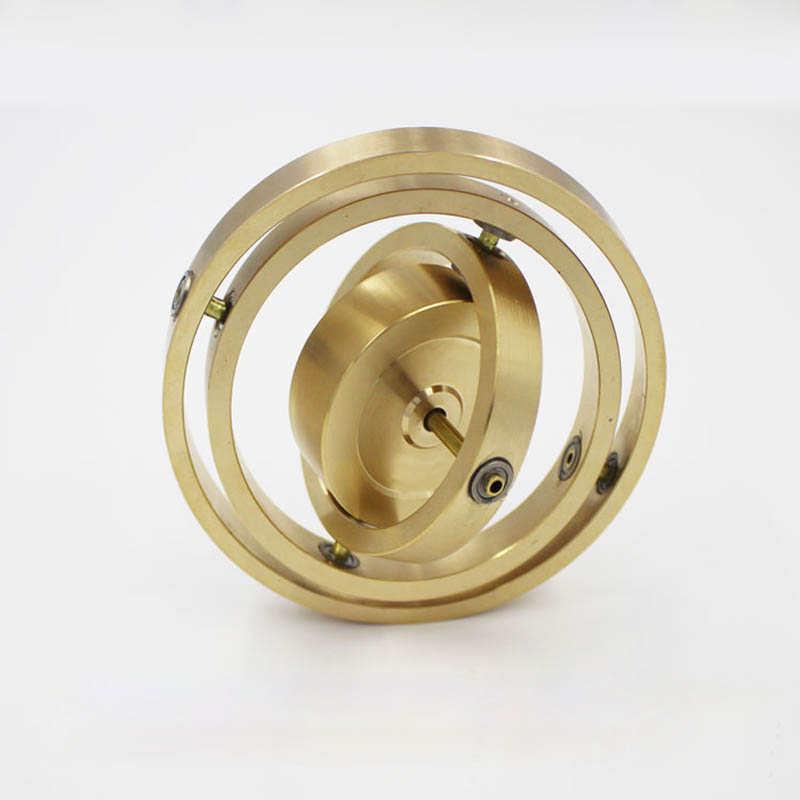 Puro cobre precisión mecánica triaxial giroscopio de metal chico angular momento giroscopio equilibrio juguete anti gravedad
