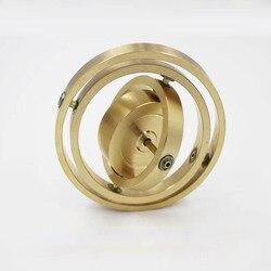 Zuiver koper precisie mechanische drieassige gyro metalen jongen impulsmoment gyroscoop balance toy anti zwaartekracht