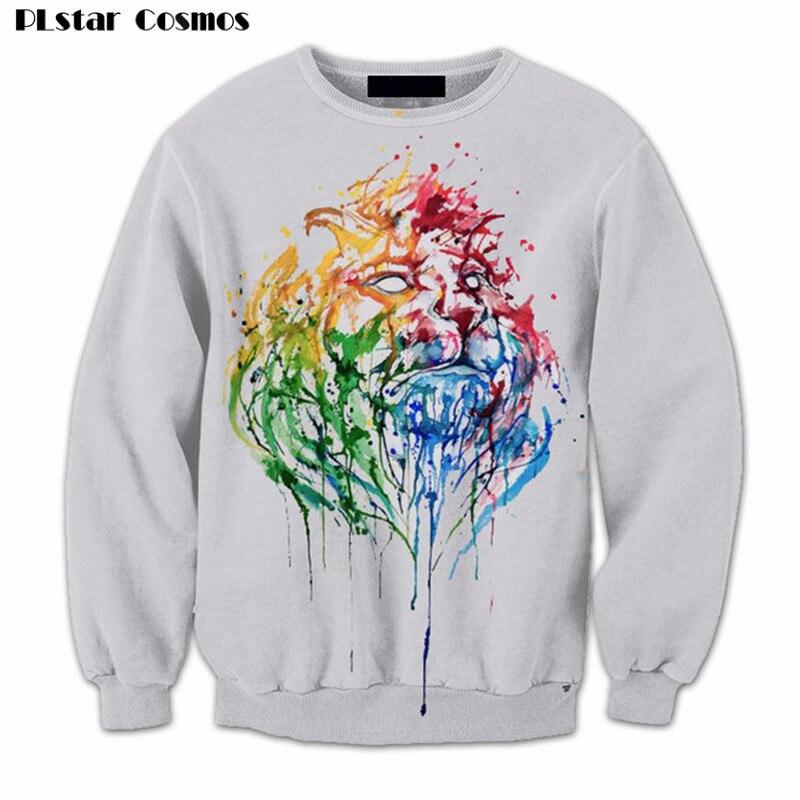 Lion Crewneck Sweatshirts Women Men Fashion Clothing Outfits Jumper Casual Long Sleeve Sweats Jogger plus size 4XL 5XL