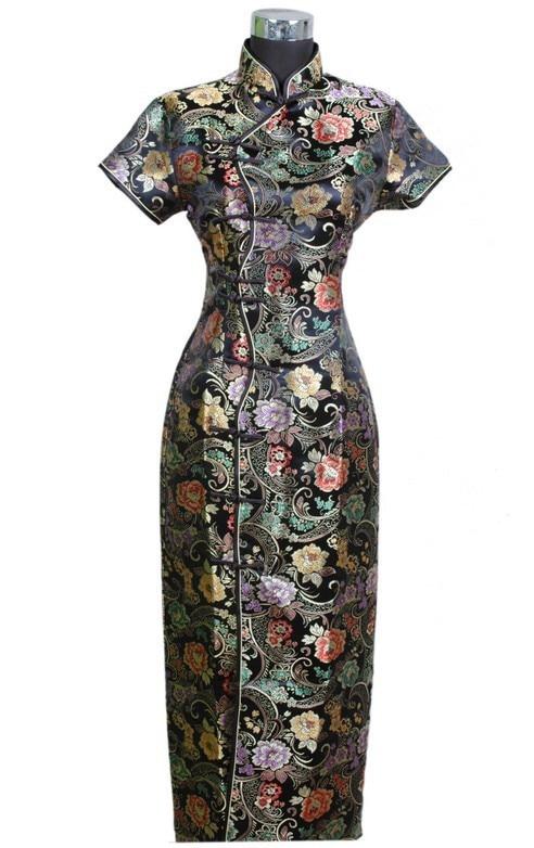 New Chinese Traditional Women's Long Dress Qipao Cheongsam Wedding Evening Dress