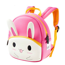 Childrens school bag kindergarten 1-3 years old baby bunny bags anti-lost shoulder back pack  schoolbags