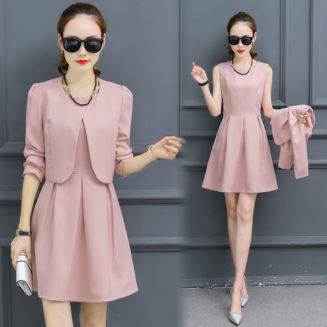 A Women Dress Suit Autumn Outfit New Sleeveless Tank Dress With