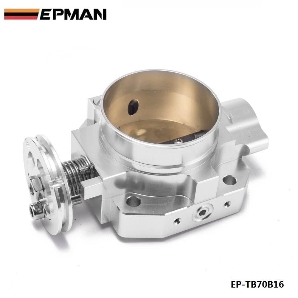Collecteur d'admission en aluminium argent 70mm corps d'accélérateur pour Honda B16 B18 D16 F22 B20 D/B/H/F EG EK H22 EP-TB70B16 - 3