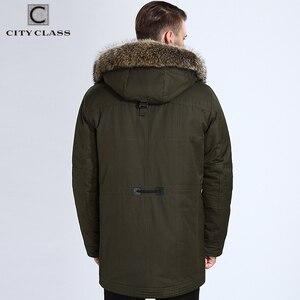Image 3 - 市クラス毛皮の冬のジャケットメンズスーパー暖かいパーカーラクダ毛充填アライグマフードビッグ毛皮の冬のコート厚みパーカー 839
