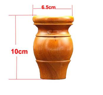 4Pieces/Lot H:10x6.5cm Solid Wood Furniture Foot Rubber Wood TV Cabinet  Tea Table Legs