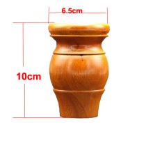 4pcs/lots H:10x6.5cm Solid Wood Furniture Foot Rubber Wood TV Cabinet Tea Table Legs(China)