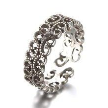 Aberto ajustável thai sliver anel para mulher vintage coreano dedo acessórios feminino presente