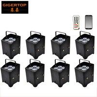 Desconto Unidade 8 6in1 Energia Da Bateria & wireless DMX512 Liberdade Latas Par Uplighting RGBAW UV Recarregável 10000MAH Bateria De Lítio|wireless dmx512|rgbaw uvfreedom par -