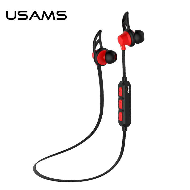USAMS sweatproof stereo bluetooth 4 0 wireless sports earphones headset with MIC Microphone for iphone
