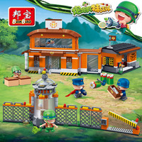Banbao PowpowBing Enemy Scout Bomb Depot Building blocks for boys children kids Educational Toys Military vehicles models Bricks