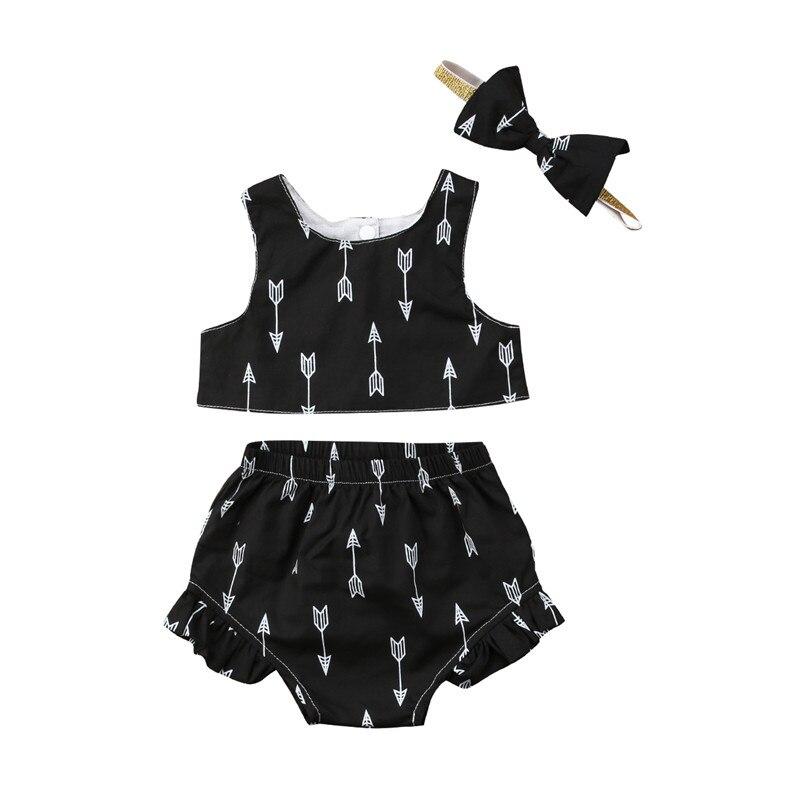 Cute Toddlers Kids Girls Clothing Set Vest Tube Crop Tops ...