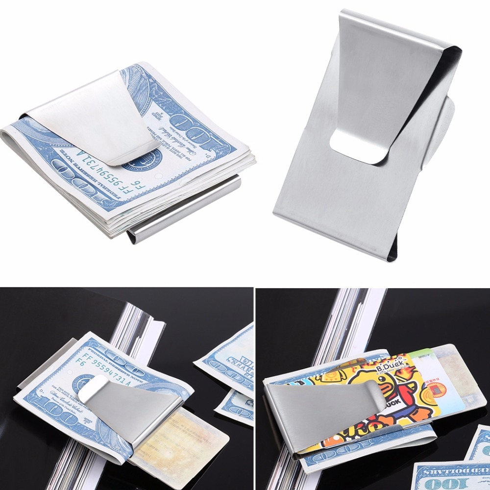 Women stainless steel business card holder women slim clip double women stainless steel business card holder women slim clip double sided id credit card holder case for men in card id holders from luggage bags on colourmoves