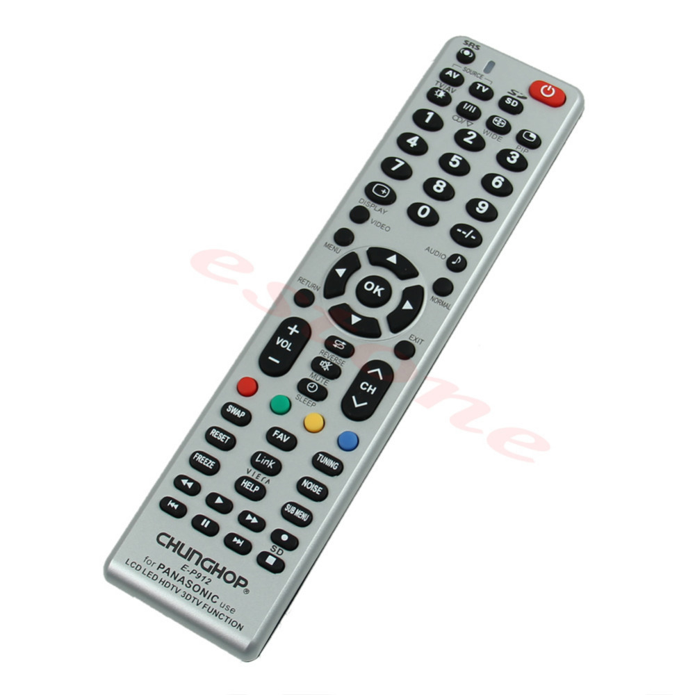 1Pc 2016 newestUniversal Remote Control E-P912 For Panasonic Use LCD LED HDTV 3DTV Function Wholesale&Retail