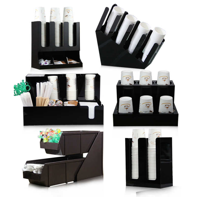 Cocktail Jewelry Box Acrylic Cup Holder Bar Storage Box Paper Cup Plastic Shelf Magic Decanter Vacuum Wine Stopper Pourer JJ730