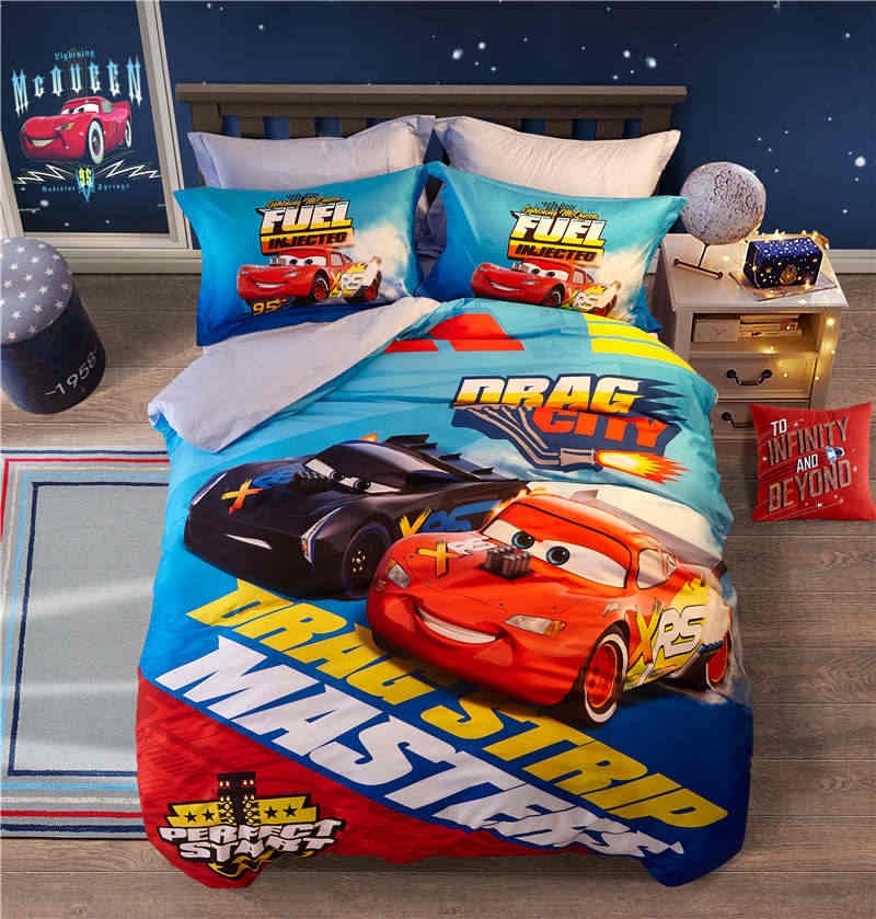 Lightning McQueen Cars Bedding set Queen Size Bed Sheets for Boy's