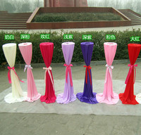 20 PCS Wedding Road Lead Frame With Silk Cloth Cover For Wedding Decoration Flower Bracket Metal