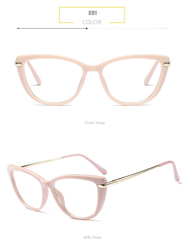53e8eac286c85 ANEDF Cat Eye Eye Glasses Frames For Women Brand Designer Eyeglasses ...