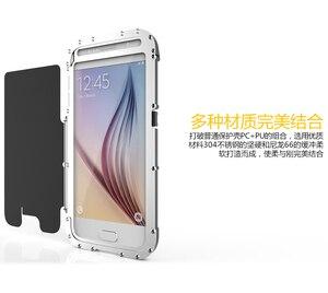 Image 4 - R just funda de teléfono con tapa para hombre, a prueba de golpes, armadura de Metal de acero a la moda para Samsung S9 S8 Plus S7 S6 Edge Note 9 8 5 4 3 2