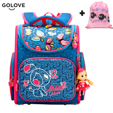 2018 Top Quality Children School Bags for Girls Boys Waterproof Orthopedic kids Backpacks floral School Book Bag Mochila Escolar