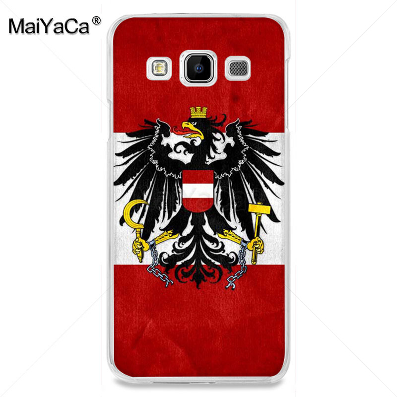 , MaiYaCa Albania Austria flag New Personalized Phone Accessories case for samsung A510 A3 A7 A8 A9 note 4 note3 case funda