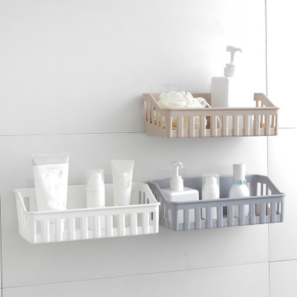 US $5.16 |Kitchen Bathroom Wall Storage Shelf Hanging Rack Corner Basket  Holder Organizer universal stents silicone bathroom organizer #8-in Storage  ...