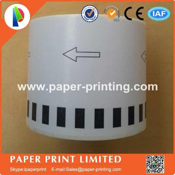 4x rolls brother kompatibel label dk2205 label kertas termal 62x30.48 m stiker perekat, dk 22205, dk-22205, dk2205, dk-2205